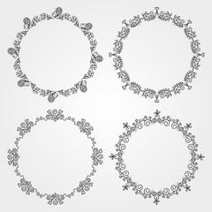 Set  of circle borders