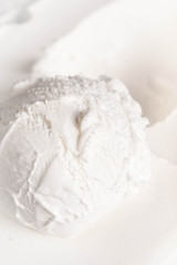 Vanilla Soft Ice Cream Background. Beige textured cream Ice-crea