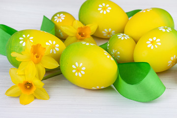 Easter Decoration in Yellow Green color