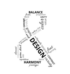 Word cloud about design