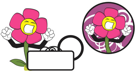 flower funny cartoon expression copyspace6