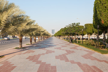 Corniche in Ras Al Khaimah, United Arab Emirates
