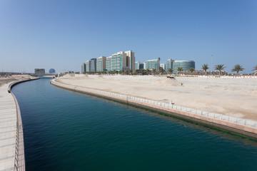 Al Muneera Canal in Abu Dhabi, United Arab Emirates