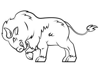 Buffalo illustration on white
