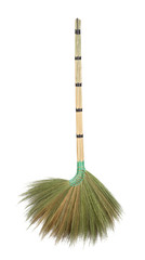 Broomstick isolated on white