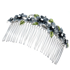 beautiful metall hairpin on a white