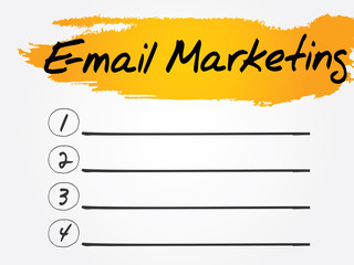 E-mail Marketing Blank List, vector concept