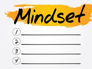 Mindset Blank List, vector concept background