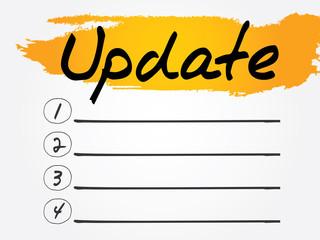 Update Blank List, vector concept background