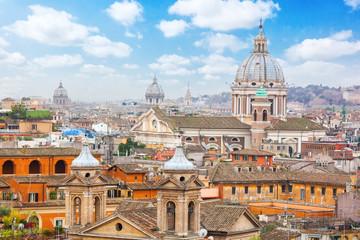 Rome Panoramic view from Viale Della Trinita dei Monti.