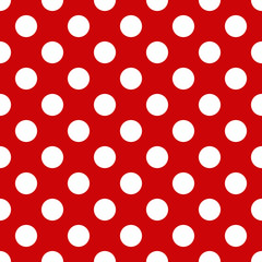 Obraz Seamless polka dot pattern for Your design - fototapety do salonu
