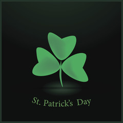 St. Patrick's day background with clovers  eps10.