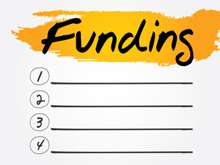 Funding Blank List, vector concept background