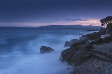 Coup de vent avec vue sur l'île de Cres Croatie