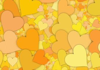 many hi-res yellow hearts backgrounds of Love symbol