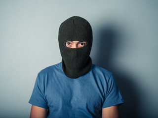 Scary man wearing a balaclava - fototapety na wymiar