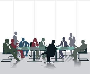 Meeting und Diskussion