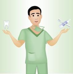image of a female dental hygienist