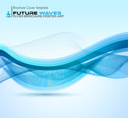 Abtract waves background for brochures and flyers design.