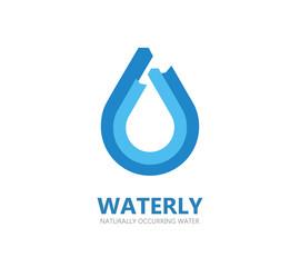 Blue water drop logo