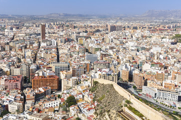 Panoramic view of Alicante (Spain)