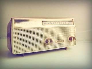 vintage radio in vintage color tone