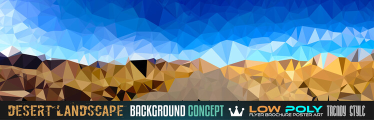 Low Poly trangular trendy Art background for your flyer,