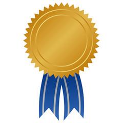Medaille mit blauer Schleife