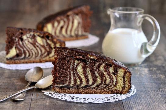 Piece of ''Zebra'' cake.
