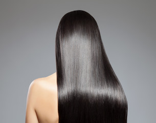 Foto op Aluminium Kapsalon Long straight hair