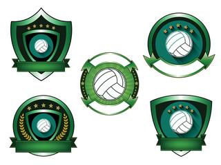Illustration of Volleyball logo set