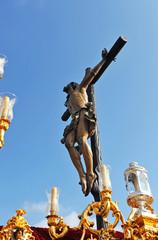 Jesús en la cruz, Semana Santa en Sevilla, Andalucía, España