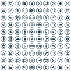 100 technology icons.