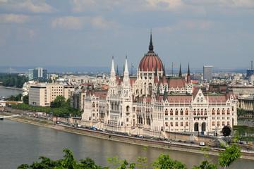 Fotobehang Boedapest Building of Hungarian parliament. Budapest