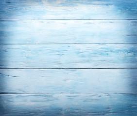 Blue wooden background.