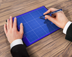 Folder with paper and pen, business concept.