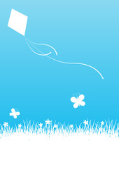 Blue spring background with place for text