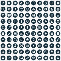 100 webdesign icons.