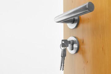 offen Tür mit Schlüssel