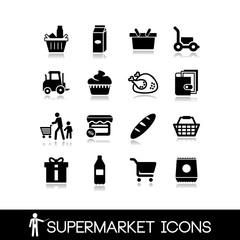 Supermarket icons set5