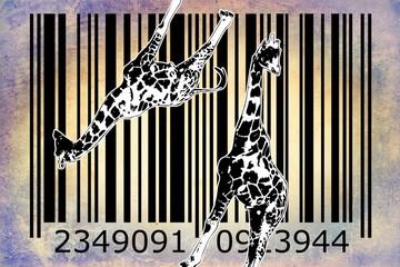 barcode animal design art idea