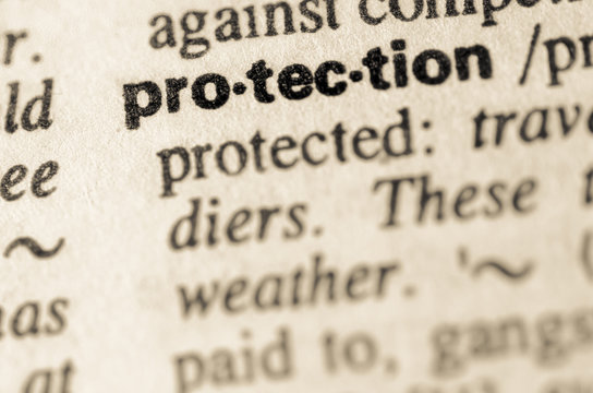 Dictionary definition of word protection