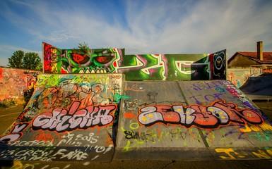 Fotobehang Graffiti collage Libourne
