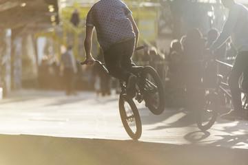 Wall Murals Cycling Anonymous bmx biker doing a stunt