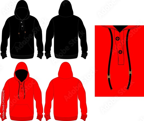 """Hoodie Winter Black And Red"""" Stock Image And Royalty-Free Vector"""