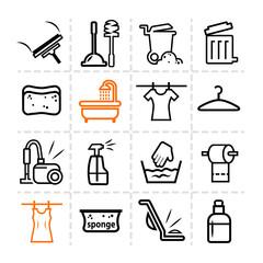 washing icons