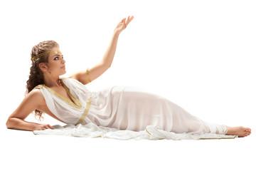 Classical Greek Goddess in Tunic