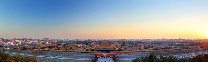 Poster Beijing Beijing Forbidden City sunset