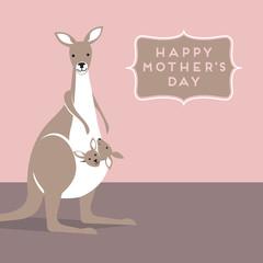 Mama Kangaroo with baby