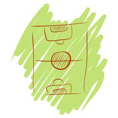 Hand draw soccer field